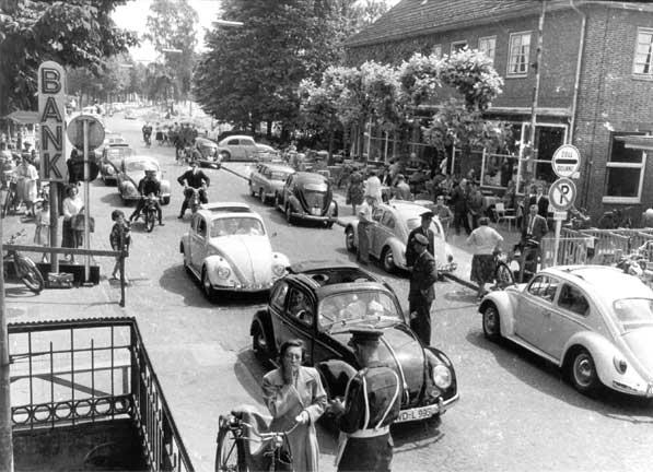Historische foto van de grensovergang Glanerbrug - Gronau © Heinrich Niehoff