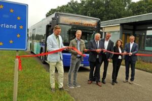Grensoverschrijdende buslijn Aalten-Bocholt geopend - Foto: Bruno Wansing, Stadt Bocholt - Foto: Bruno Wansing, Stadt Bocholt